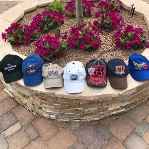 Disney Mickey Mouse Baseball Caps Set of 7